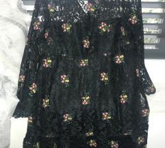 Zara haljina tamno zelena S