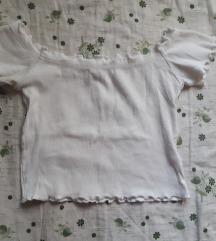 Bijela majica top sa volanima