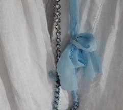 Twin Set, ogrlica sa cirkonima i vrpcom