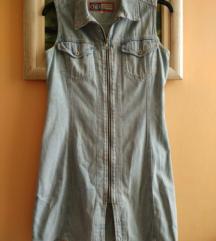 Ljetna uska traper haljina bez rukava br. 40