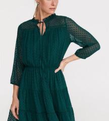 Zelena lepršava haljina