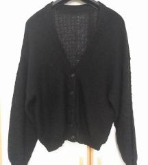 Crna vesta vintage oversize