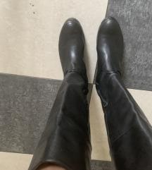 čizme, crne, kožnate