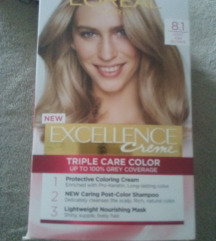 LOREAL EXCELLENCE CREME  8.1 LIGHT ASH BLONDE