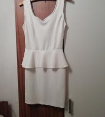Bijela peplum mini haljina