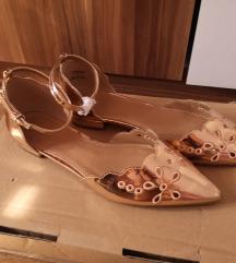 ASOS rose gold zlatne balerinke / sl.uklj.