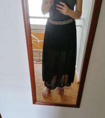 Crna suknja s podstavom