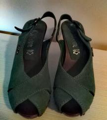 Original sOliver zelene sandale
