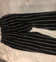 Crno bijele paperbag hlače
