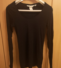 Crna majica dugih rukava H&M