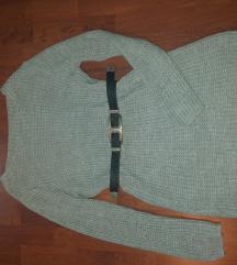 Pletena siva haljina/tunika univerzalna