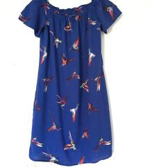 Plava haljina s pticama