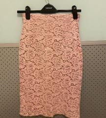 Zara roza cipkasta pencil suknja ✨