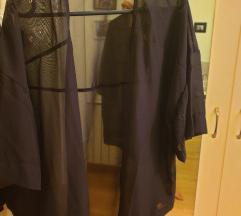 Crni prozirni kimono