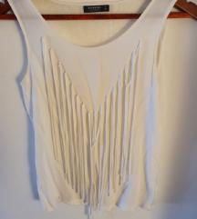 Reserved bijela bluza sa resicama