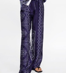 Zara print zvonolike hlače