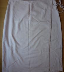 Bijela pamučna suknja na preklop, S/M