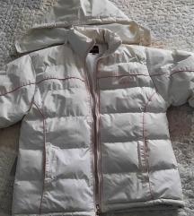 Bijela zimska jakna L