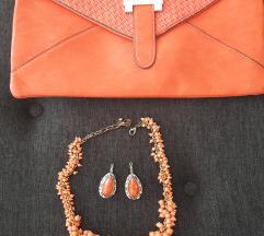 Torbica ogrlica i naušnice