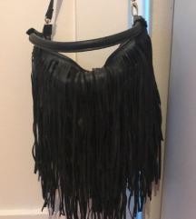 H&M crna torba s resama