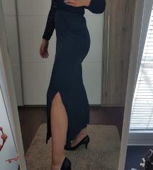 Duga suknja s prorezom