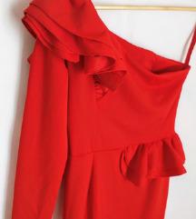 Crvena maxi uska haljina 🎀