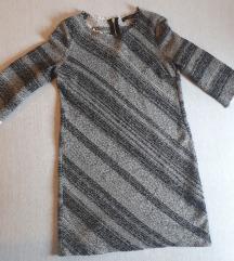 Zara basic tweed haljina