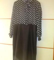 Retro haljina polkadot print with pussybow