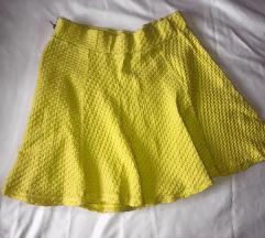 H&M žuta suknja M