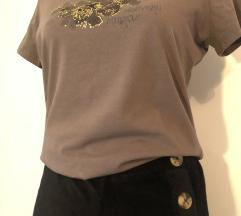 Samt casual cullotice + smeđi t-shirt