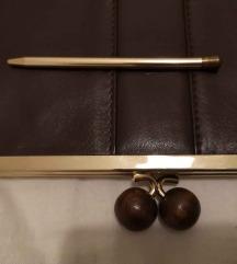 Vintage kožna torbica + olovka