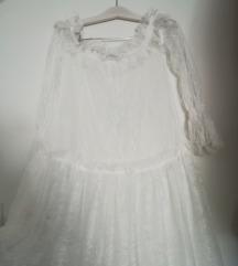Nova romanticna Haljina cipkasta bijela