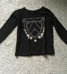 Zara sweatshirt crna majica vel M