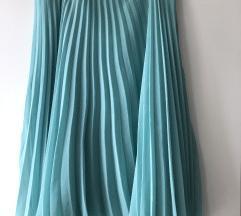 Zara tirkizna midi suknja
