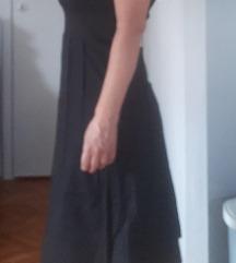 Crna lanena haljina