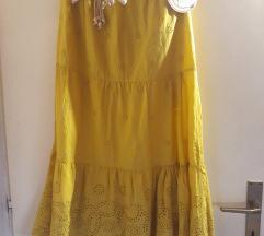 Duga žuta suknja