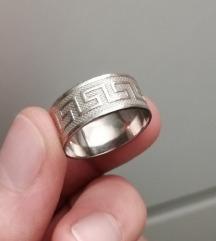 Srebrni prsten grčki ključ