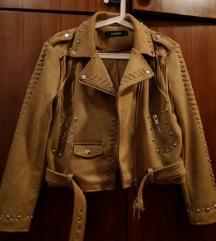 Nova Zara bež jakna s resama L
