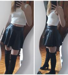 Skater kožna suknja