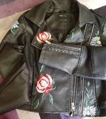 Sinsay kožna cvjetna jakna