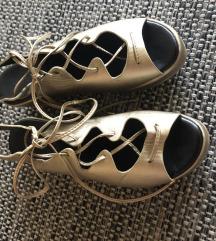 NINA MIA zlatne platforma sandale