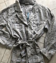 Plus size pamučna jakna