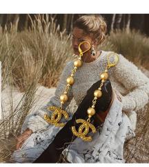 sada 180kn zlatne Chanel nausnice