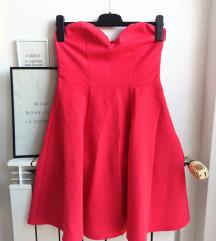H&M koraljno crvena haljina 38/40