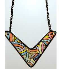 Unikatna oslikana ogrlica (pt gratis)