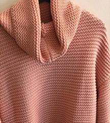 ZARA pink masivni pulover vel S
