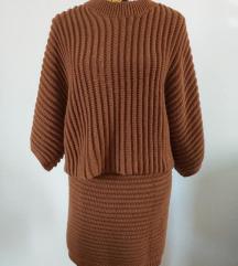Vuneni komplet majica + suknja