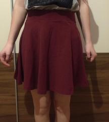 H&M bordo suknja A kroja