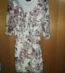 Cvjetna leprsava midi haljina