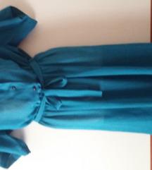 FINA petrolej haljina s remenom S/M
